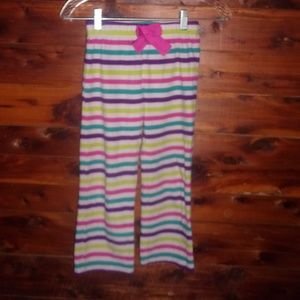 GAP Kids Striped Fleece Pj Pajama Pants size 6